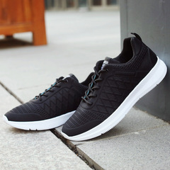 2019 New Autumn Embossed Casual Comfortable Men's Sports Shoes black 39
