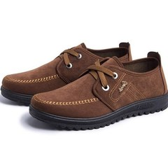 2019 new men's casual shoes with sports shoes dark coffee 39