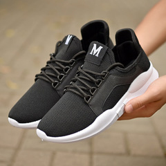 2019 New Cloth Shoes Couple Shoes Breathable Casual Shoes Men Women Running Shoes black 36 for women