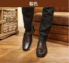 Men's Casual Black Dress Shoes Men's Work Shoes Work Shoes brown 39 leather