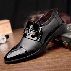 2019 New Business Dress Shoes Men's Fashion Men's Casual Shoes Wedding Shoes black 39 leather