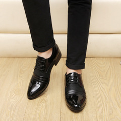 Men's Casual Business Shoes Men's Office Shoes Wedding Shoes black 39 leather