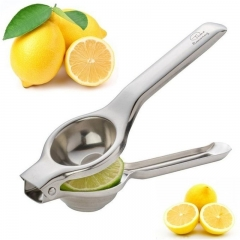 Stainless Steel Citrus Fruits Squeezer Orange Hand Manual Juicer Lemon Juicer  Queezer Pressing silver normal