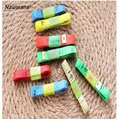 1.5m Color Measuring Tools Plastic Tape Measure Flexible Ruler Clothing Sewing  Market Ruler random random normal