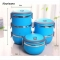 Stainless Steel Bento Lunch Box for Kids Thermal Food Container Portable Dinnerware Sets blue one layer