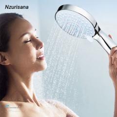 Five-function Hand Shower Adjustable Bathroom Rainfall Shower Head Water Saving Flow silver normal