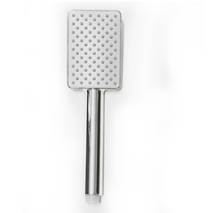 High Pressure Shower Head Water Saving Rainfall Shower Head Bathroom Square Spray Nozzle Head silver normal