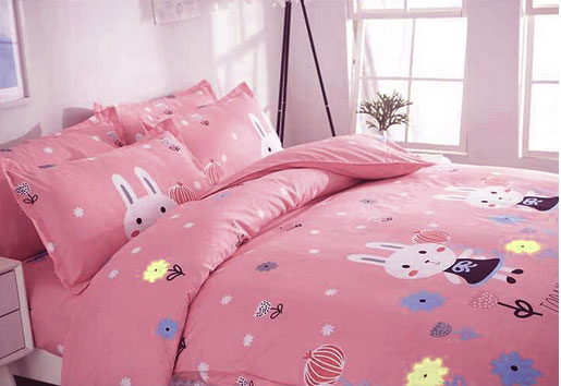 Natural Plant Cashmere Four Pieces High Quality 100% Cotton Duvet Covers Bedding Set as the picture 5*6
