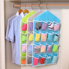 16 Grids Buggy Bag Receive Underwear  Random  Socks Storage Organizer Save Vertical Space green