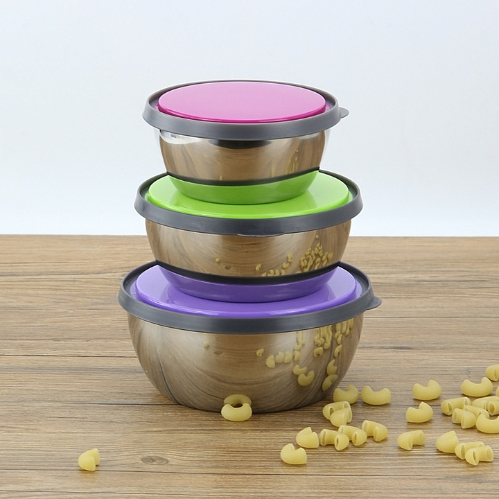 6PCS Lunch Boxes Stainless Steel Food Storage Container Cute Leak-Proof Food Picnic Snack Case MIXED COLOR normal