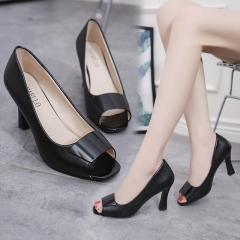 Platform Pumps Women Peep Toe Sexy High Heels Shoes Wedding Party Shoes Lady Work Pumps black 40