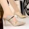 Sexy High Heels Shoes Fashion Women Platform Pumps For Party Wedding Shoes Night Club Heels 9CM gold 35