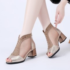 Bling Women Sandals 2018 Summer Fashion High Heel Sandals Crystal Casual Ladies Shoes 6cm High Heels gold 36