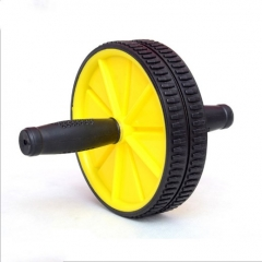 Health fitness Abdominal Press Wheel Rollers Crossfit Exercise Equipment for Body Building Fitness Yellow 17.5cm