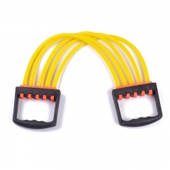 Indoor Sports Supply Chest Expander Puller Exercise Fitness Resistance Elastic Cable Rope Tube Yellow 62cm
