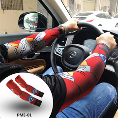 Superhero Captain America Cuff Spider Batman Superman Arm Warmers  Unisex Workout Arm Sleeves 50-90KG PME-01
