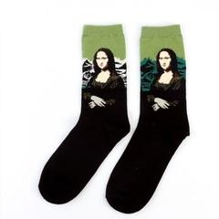 3Pair Retro Painting Art Socks Unisex Women Men Funny Novelty Starry Night Vintage Socks 1 Average