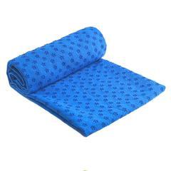 Non Slip Cotton Yoga Mat Rug Plum Dotted Resin Towel Blanket Sweat Absorbing Towel Sport Fitness Blue 183*63cm