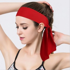 Yoga Sport Sweat Headband Men Sweatband For Men and Women Yoga Hair Bands Head Sweat Bands Red As Picture