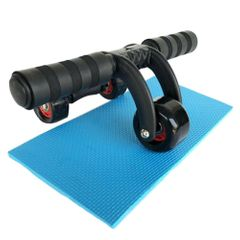 Health fitness for Three Wheeles Abdominal Power Wheel Muscle Exercise Abs Roller Home Gym Black 12.5 * 33cm