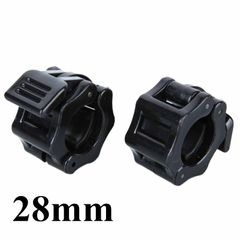 2Pcs/Set Barbell Clamps Collars Lock 28mm Fitness Standard Weightlifting Dambil Gym Plastic Buckle 28MM Black