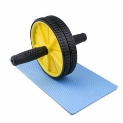 Fitness Abdominal Press Wheel Rollers Crossfit Exercise Equipment for Body Building Fitness Yellow 17.5cm