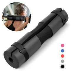 Barbell Pad Pull Up Squat Bar Shoulder Back Protect Pad Grip Support Weight Fitness Weightlifting Black