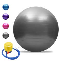 65cm Health Fitness Yoga Ball Utility Anti-slip Pilates Balance Yoga Balls Sport Fitball Proof Gray 65cm