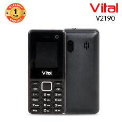 Vital V2190, 1000mAh, Facebook, Wireless FM, 1.3MP, Mobile phone black