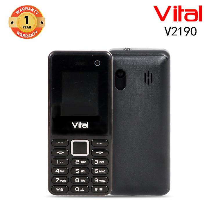 Vital V2190, 1000mAh, Facebook, Wireless FM, 1.3MP, Mobile phone Smartphone black