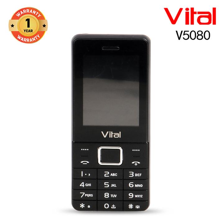 Vital V5080, 1000mAh, Facebook, Wireless FM, 1.3MP, Mobile phone Smartphone black