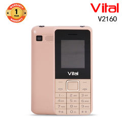 Vital V2160, 1000mAh, Facebook, 1.3MP, FM, Mobile phone gold