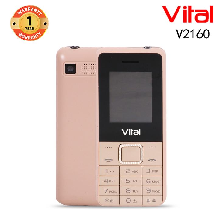 Vital V2160, 1000mAh, Facebook, 1.3MP, FM, Mobile phone Smartphone gold