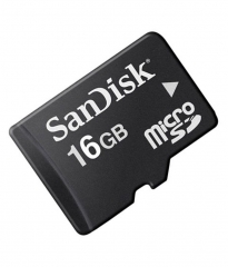 Micro SD Card - 16GB Standard - Black black Sandisk 16GB With Adapter
