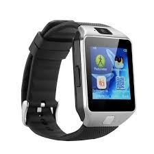 Smart Gear DZ09 Smart Watch Phone for Android and Apple - Silver Black silver 128mb