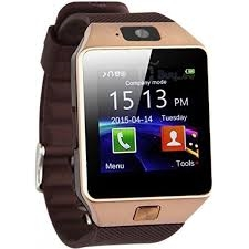 DZ09 Smart Watch Phone for Android and Apple - Gold Brown gold 128mb