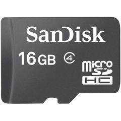 Memory Card - Micro  SD - 16GB - Black black sandisk 16gb No adapter
