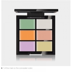 DISCOUNT 6Colors Concealer Palette 3D Contour Face Makeup Waterproof Corrector Base Highlighter 1