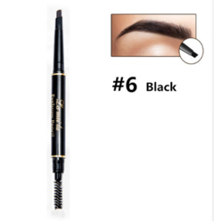 Eye Brow Cosmetics Natural Long Lasting Paint Tattoo  Waterproof double head  Eyebrow Pencil  Makeup 6#black