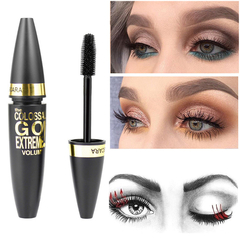 DISCOUNT Black Mascara Makeup Eyelash Waterproof Extension Curling Thick Quick Dry Mascara black