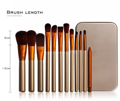 DISCOUNT 12 pcs Professional  Makeup Brushes set Eyeshadow Power  foundation brushes kit gift box as picture