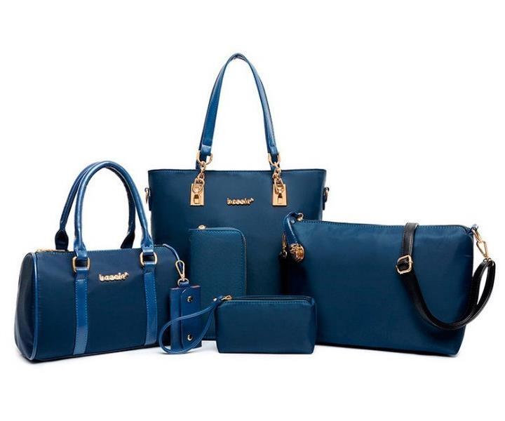 62ffc02c4da0 XuanYu Fashion classic women handbag six pieces PU Leather Backpack ...