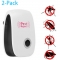 [2-Pack]-Ultrasonic Non-toxic Safe Pest Reject Repeller Home multi-function Mosquito Repellent White