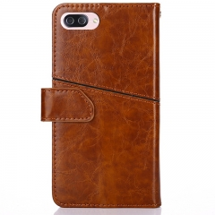 Zenfone 4 MAX 5.2 Inch Leather Wallet Phone Case with Card Holder Kickstand Protective Flip Cover Brown for ASUS Zenfone 4 MAX 5.2 Inch (ZC520KL)