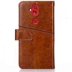 Zenfone 5 Lite ZC600KL Leather Wallet Phone Case with Card Holder Kickstand Protective Flip Cover Brown for Asus Zenfone 5 Lite ZC600KL