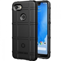 Google Pixel 3 XL Case Rugged Silicone Heavy Duty Armor Shock-Proof Protective Case Cover Black for Google Pixel 3 XL