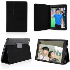 iPad Mini 2 Lightweight Folio with Auto Wake/Sleep Smart Stand Magnetic PU Leather Hard Case Cover Black ipad mini 1/2/3