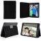 iPad Mini 2 Lightweight Folio with Auto Wake/Sleep Smart Stand Magnetic PU Leather Hard Case Cover Black ipad mini 1/2/3