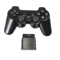 Joystick Gamepad Controller Dual Shock Wireless Game Console Gamepad for PS2 Black one size