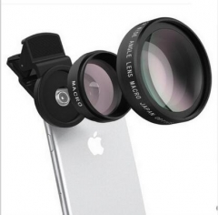 Mobile Professional 37MM 0.45X 49UV Super Wide-Angle + Macro two-in-one Mobile Phone Lens Black One Size
